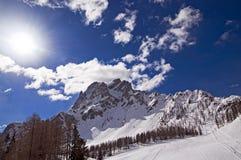 Montanhas das dolomites em Itália Fotos de Stock Royalty Free