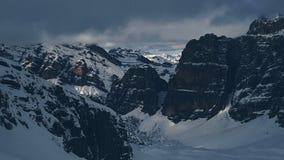 Montanhas das dolomites vistas de Lagazuoi fotografia de stock royalty free