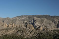 Montanhas de Alicante, cume de Sella Imagens de Stock