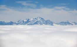 Montanhas de Alpes Fotografia de Stock