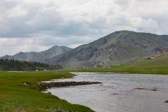 Montanhas de Altai Paisagem bonita das montanhas mongolia fotografia de stock royalty free