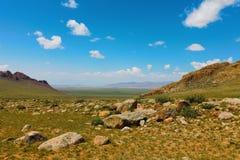 Montanhas de Altai Paisagem bonita das montanhas mongolia fotografia de stock