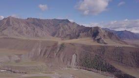 Montanhas de Altai Paisagem bonita das montanhas Rússia sibéria filme