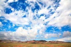 Montanhas de Altyn Emel Aktau em Kazakhstan Fotos de Stock Royalty Free