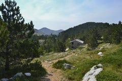 Montanhas de Biokovo em croatia Imagem de Stock