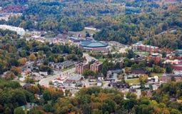Montanhas de Boone North Carolina Town Black foto de stock royalty free