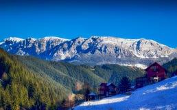 Montanhas de Bucegi, Moeciu de Sus Foto de Stock Royalty Free