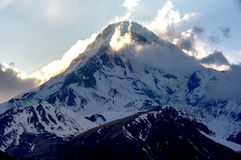 Montanhas de Cáucaso bonitas, Geórgia Imagem de Stock