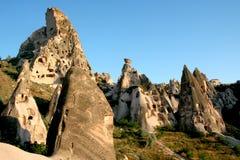 Montanhas de Cappadocia Fotos de Stock