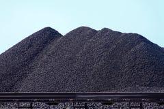 Montanhas de carvão Imagem de Stock