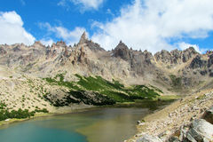 Montanhas de Cerro Catedral em Bariloche Foto de Stock