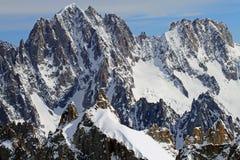 Montanhas de chamonix Imagens de Stock Royalty Free
