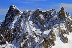 Montanhas de Chamonix Foto de Stock