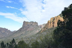 Montanhas de Chisos do parque nacional de curvatura grande, Texas Fotografia de Stock