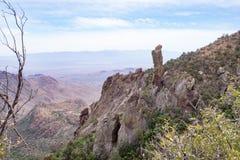 Montanhas de Chisos no parque nacional de curvatura grande Foto de Stock Royalty Free