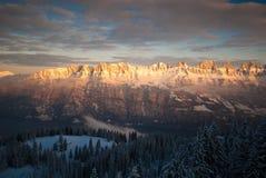 Montanhas de Churfirsten Fotografia de Stock Royalty Free
