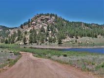 Montanhas de Colorado no reservatório de onze milhas Imagens de Stock Royalty Free