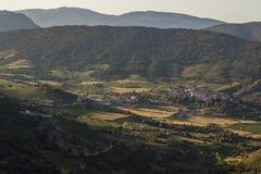 Montanhas de Corbieres, França Fotos de Stock Royalty Free