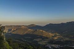 Montanhas de Corbieres, França Fotografia de Stock