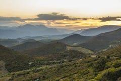 Montanhas de Corbieres, França Fotografia de Stock Royalty Free