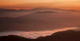 Montanhas de Cozia, Romênia Imagem de Stock