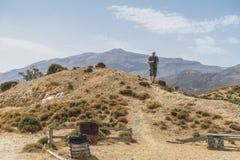 Montanhas de Crete Imagem de Stock