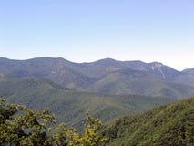 Montanhas de cume azul Foto de Stock Royalty Free