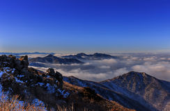 Montanhas de Deogyusan Foto de Stock Royalty Free