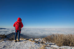 Montanhas de Deogyusan Fotografia de Stock Royalty Free