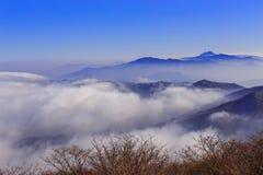 Montanhas de Deogyusan Fotos de Stock Royalty Free
