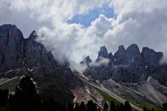 Montanhas de Dolomiti Foto de Stock Royalty Free