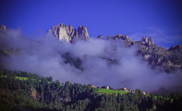 Montanhas de Dolomiti, Itália Fotos de Stock