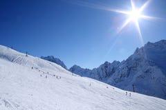 Montanhas de Dombay Imagens de Stock Royalty Free