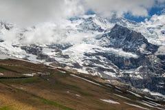 Montanhas de Eiger e de Jungfrau, Suíça Imagens de Stock