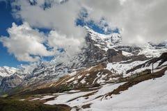 Montanhas de Eiger e de Jungfrau, Suíça Imagens de Stock Royalty Free