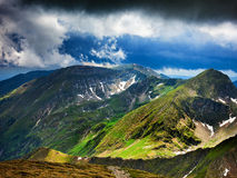 Montanhas de Fagaras em Romania Foto de Stock