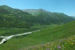 Montanhas de Geórgia fotos de stock royalty free