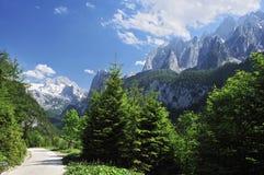 Montanhas de Gosaukamm & de Dachstein Foto de Stock
