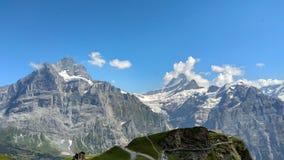 Montanhas de Grindelwald em Suíça foto de stock