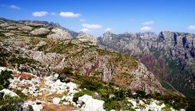 Montanhas de Haghier, ilha de Socotra Foto de Stock Royalty Free