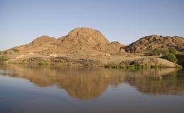 Montanhas de Jebel Barkal fotografia de stock