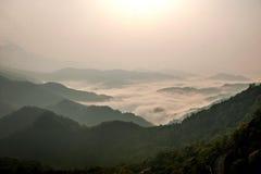 Montanhas de Jiangxi Wuyuan Shicheng Imagens de Stock