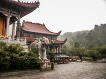 Montanhas de Jiuhuashan fotografia de stock royalty free