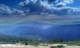 Montanhas de Krkonose Fotografia de Stock Royalty Free