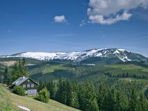 Montanhas de Krkonose Fotos de Stock