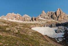 Montanhas de Lagazuoi nas dolomites Foto de Stock