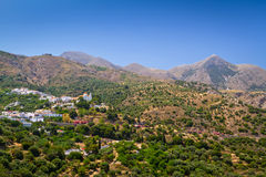 Montanhas de Lasithi no leste de Crete Foto de Stock