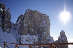 Montanhas de Leonardo Fotografia de Stock