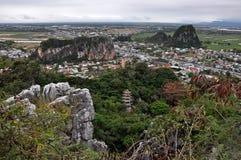 Montanhas de mármore, Da Nang, Vietname Imagem de Stock