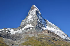 Montanhas de Matterhorn nos alpes, Switzerland Fotos de Stock Royalty Free